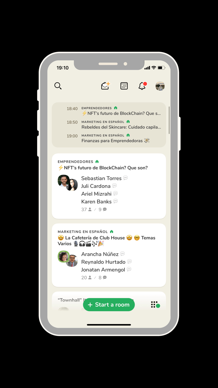 ejemplo app clubhouse